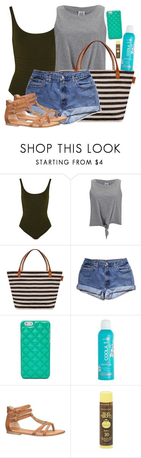 """Natasha Romanoff Inspired Pool Party Outfit"" by lauloxx ❤ liked on Polyvore featuring Eres, Vero Moda, FOSSIL, J.Crew, maurices, Summer, casual, NatashaRomanoff and poolparty"