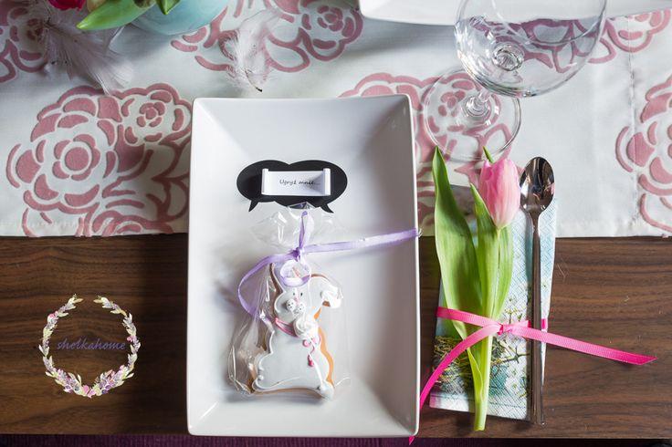 Wnętrza, Wielkanocnie.... - Moje dekoracje wielkanocne w ciepłych barwach, róż, mięta, szarość. wiosennie i kolorowo :)