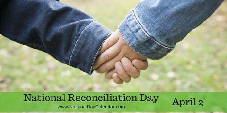 #ReconciliationDay - This is a day intended to patch up relationships.  Misunderstandings, unintended words or actions and simply an unforgiven mistake can tear apart relationships.  National Reconciliation Day is the time to take that step and make amends.  It's not too late.  Reach out to that friend or loved one and make a fresh start.