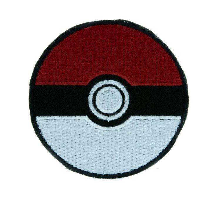 Pokeball Pokemon Go Patch Iron on Applique Alternative Clothing Pikachu  #hat #blackmetal #comiccon #knitcap #gothic