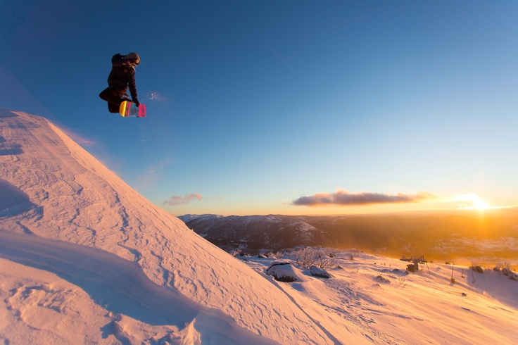 Early morning airtime @Perisher