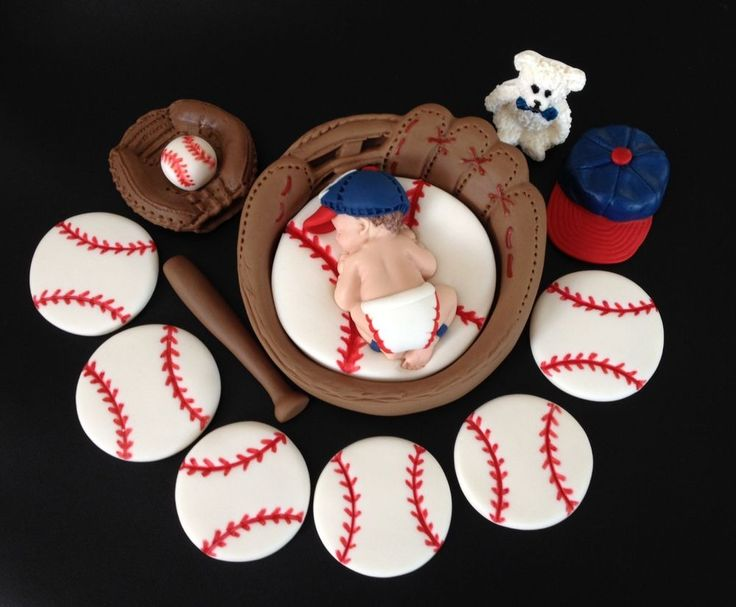Fondant Baby Baseball/Glove Atlanta Braves Cupcake/Cake Topper,Baby Shower, 1st | Home & Garden, Greeting Cards & Party Supply, Party Supplies | eBay!