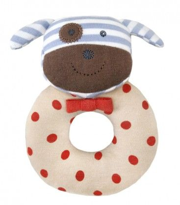 Apple Park Rattle - love this different baby rattle - boxer the dog