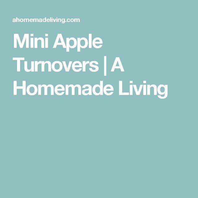 Mini Apple Turnovers | A Homemade Living
