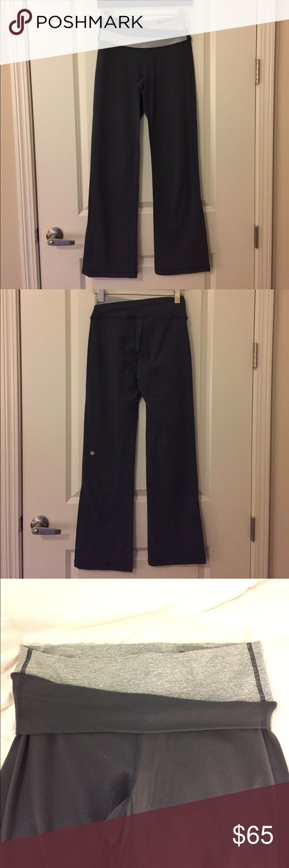 Lululemon Astro Yoga Pant Like new Lululemon Astro yoga Pant. Four way stretch  & moisture wicking. Slight flare. Waistband can be worn up or with 1/2 folded down for low rise fit. lululemon athletica Pants