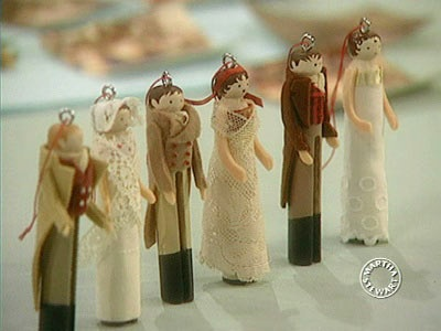 Video: Martha makes clothespin ornaments.