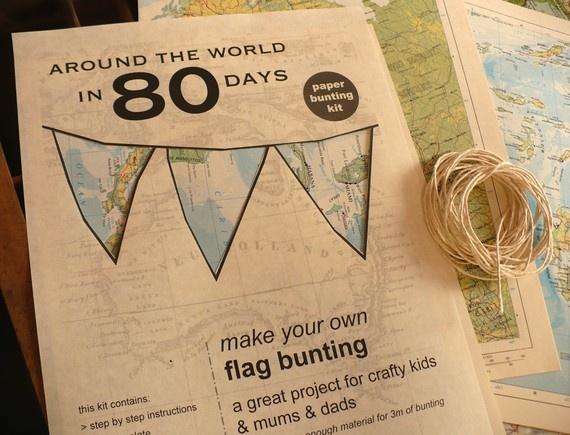 Around the world in 80 days theme- decor ideas