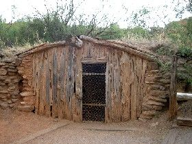 Texas Legends - Palo Duro Canyon State Park - Charles Goodnight house in Palo Duro Canyon