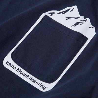 White Mountaineering Mountain Print Pocket Tee (Navy)