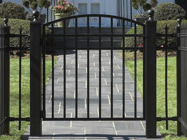 Simple Fence Gate Design wrought iron fence gate model image -- for side of driveway