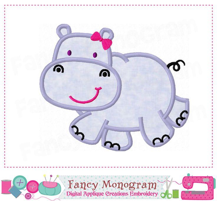 Hippo applique,Hippo embroidery,Hippo design,Beach design,Hippo,Summer applique,Seaside,Hippo,Animal applique,Girl applique-01 by FancyMonogram on Etsy https://www.etsy.com/listing/238614588/hippo-appliquehippo-embroideryhippo