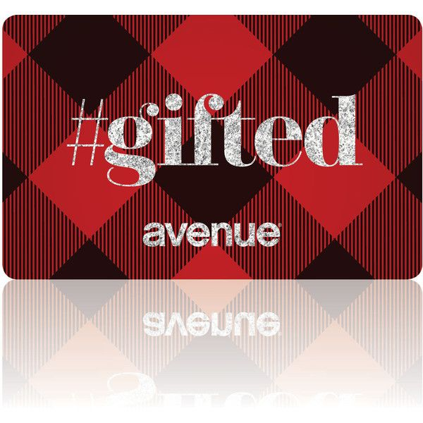 Avenue Electronic Gift Card (€21) ❤ liked on Polyvore featuring gift cards, plaid and plus size