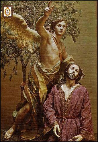 Oración en el Huerto, de Francisco Salzillo. Iglesia de Jesús (Museo Salzillo de Murcia). Detalle de Jesús y el ángel