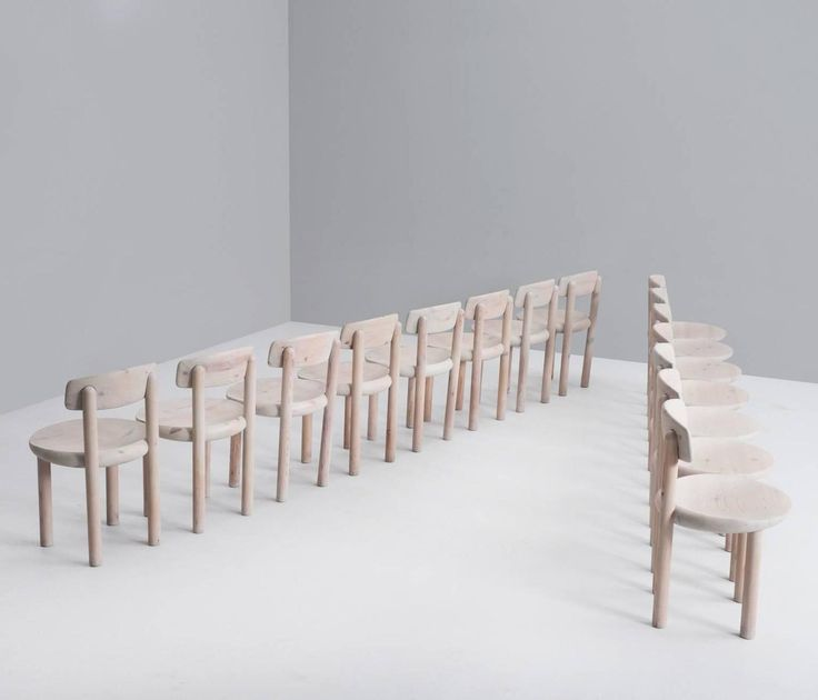Set Of 15 Solid Pine Chairs, With Tilt Backs, Denmark 1970s | 1stdibs.