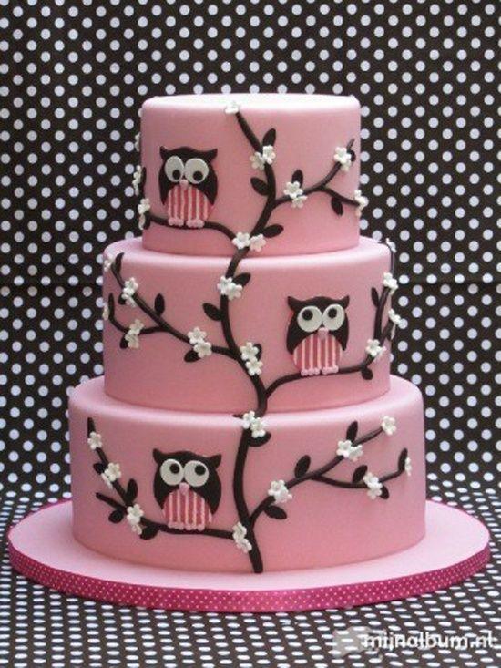Los Buhos están de moda - Свадебные торты розового цвета фотогаллерея   Модная свадьба