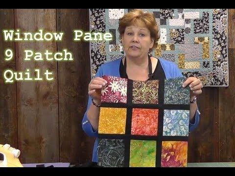 Window Pane 9 Patch Quilt Tutorial