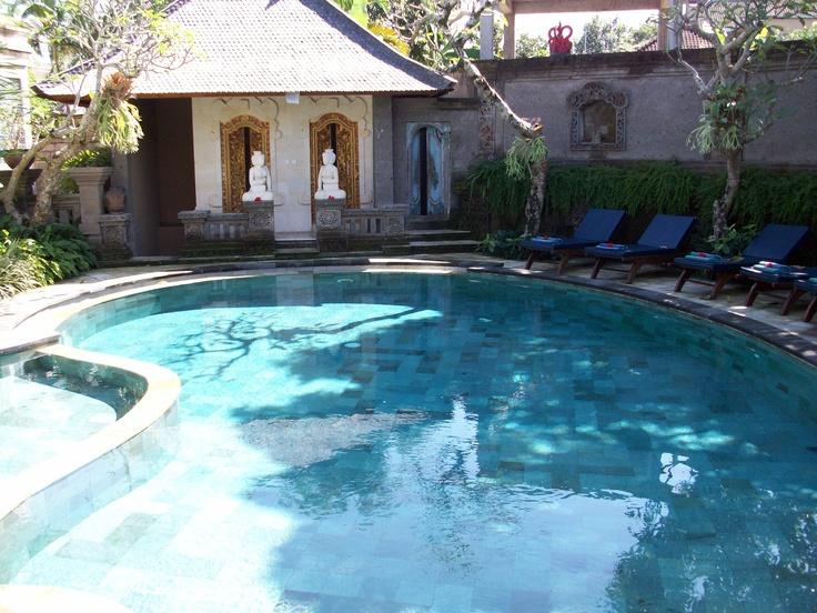 Peaceful swim at Honeymoon Guest House II, Ubud, Bali