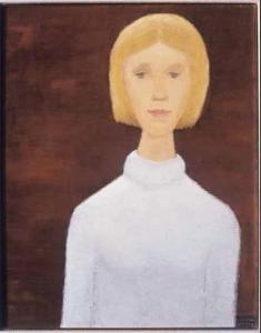 Jean-Paul Lemieux - Portrait Of A Young Girl - 19xx