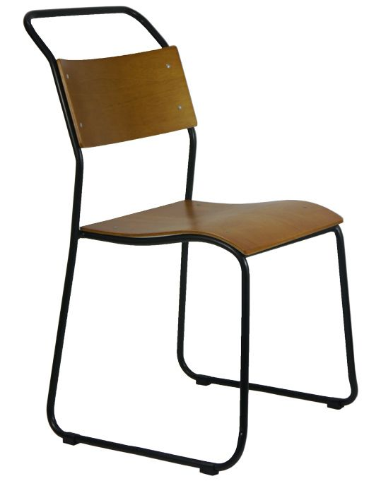 Replica Bauhaus Bruno Pollock Cafe RP6 CHAIR Retro Dining Chairs Oak / Matt Black