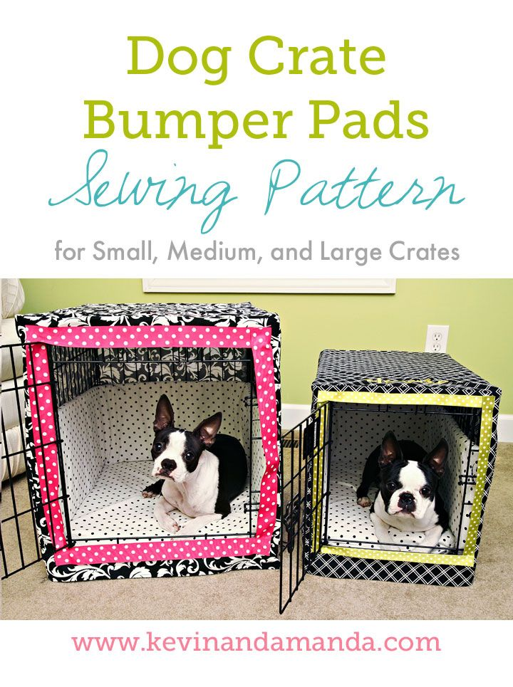 How to make your own cushions, bumpers and covers for your pet crate. Much cheaper alternative to buying one of these sets.