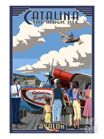 Catalina Island, California - Seaplane Art Print by Lantern Press at Art.com