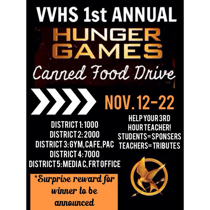 canned food drive flyer