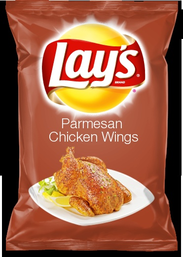 Parmesan chicken wings flavour crisps, great for Christmas dinner if you forget to buy a chicken!