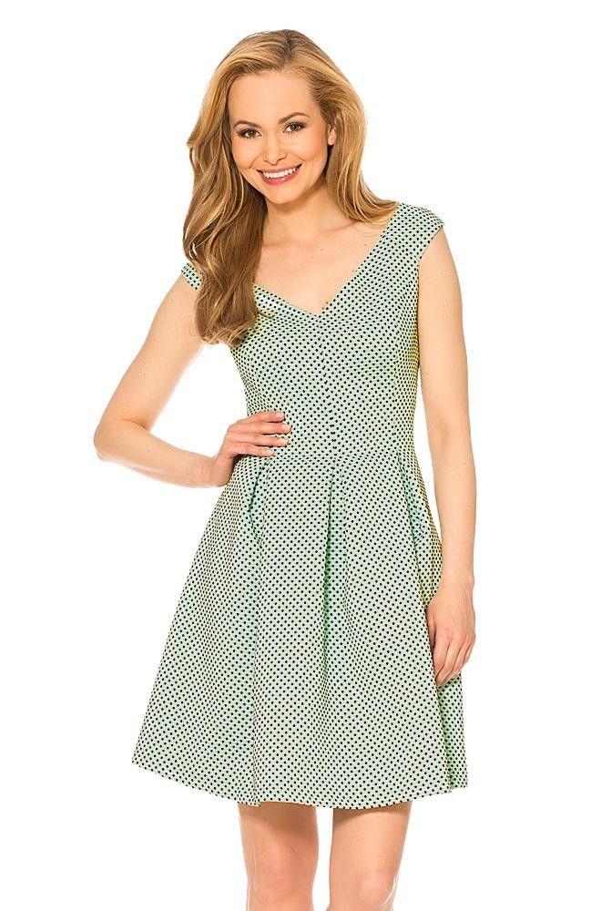 Elegancka sukienka bez rękawów