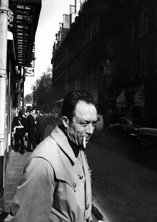 """As if this great outburst of anger had purged all my ills, killed all my hopes, I looked up at the mass of signs and stars in the night sky and laid myself open for the first time to the benign indifference of the world."" — 	Albert Camus, The Outsider  (Translation: Joseph Laredo)"