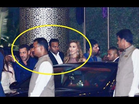 Salman Khan with Girlfriend Lulia Vantur at Preity Zinta's Wedding Reception.