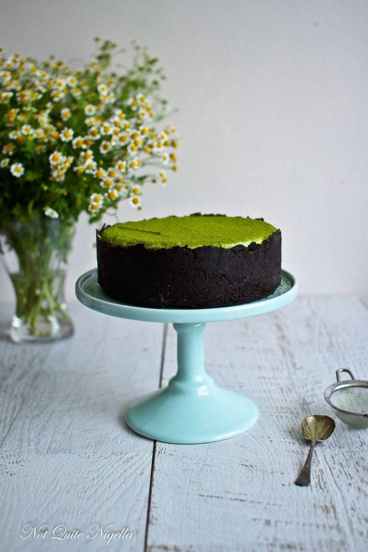 Matcha white chocolate and lime cheesecake