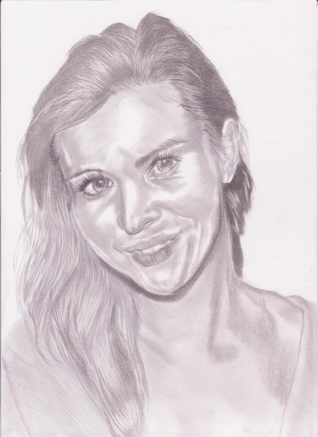 menggambar sketsa wajah joana krupa