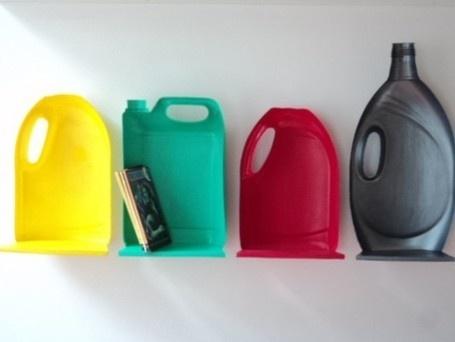 Estantes hechos con botellas de plástico. Recicla recipientes de plástico | Mil Ideas de decoración | Ecología sostenible | Scoop.it