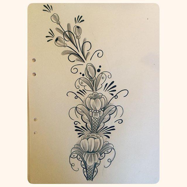 Tattoo for sunday fun work #tattoo #tatuering #kurbits #blackwork #blackgrey #blxckink #falun ...