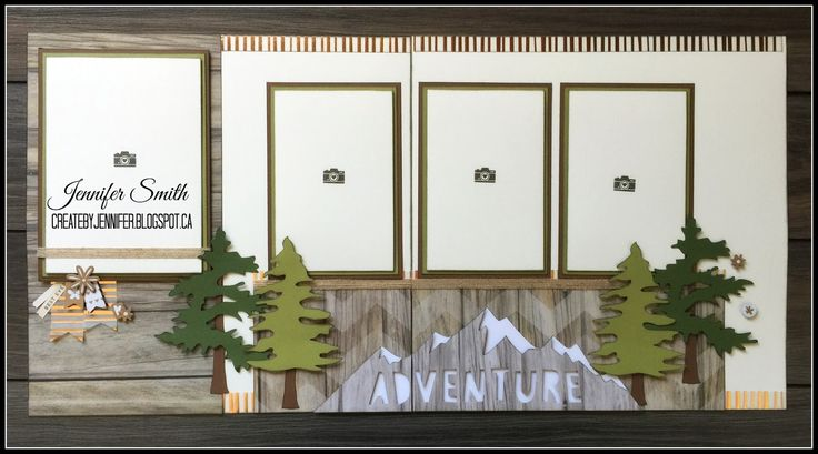 Have you had a recent outdoor scrapbook worthy adventure! Here are the layouts for you! To get these supplies click HERE . Get this cutting...