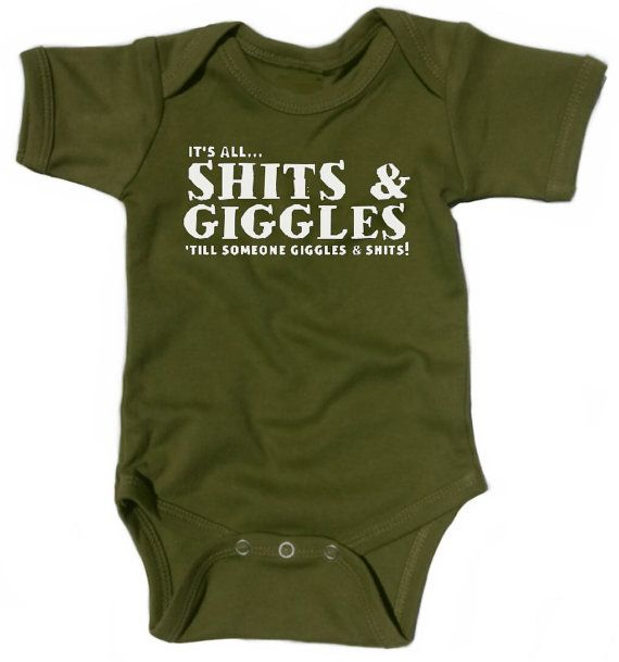 Funny Baby Onesie Gift Shits and Giggles Fun by BabyRebellion