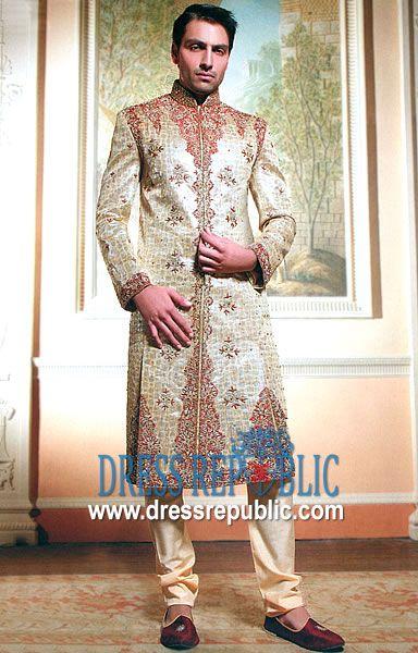 Style DRM1076, Product code: DRM1076, by www.dressrepublic.com - Keywords: Sherwani for Men Jeddah, Riyadh, Dammam, Mecca, Madinah Saudi Arabia