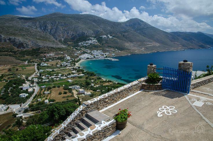Eghiali bay Amorgos island Greece