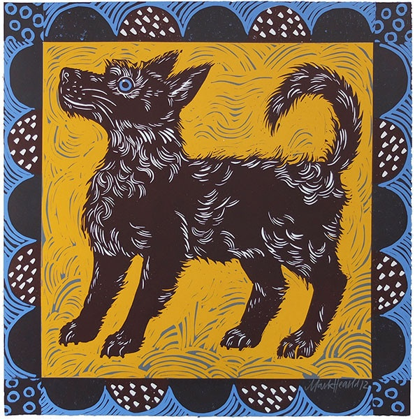Mark Hearld's Feste Dog screen print- adding this to the birthday wish list