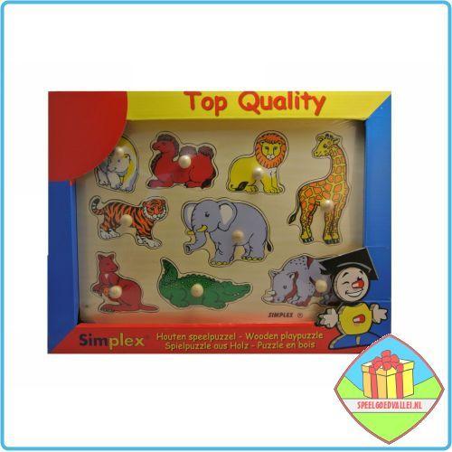 De peuter puzzel 'wilde dieren' is een leuke houten puzzel met houten noppen voor een kind vanaf 1 jaar. Leuk om te geven als verjaardagscadeau voor de 1e verjaardag. #peuterpuzzels #houtenpuzzels #dierenpuzzels #puzzels #peuterspeelgoed #speelgoed
