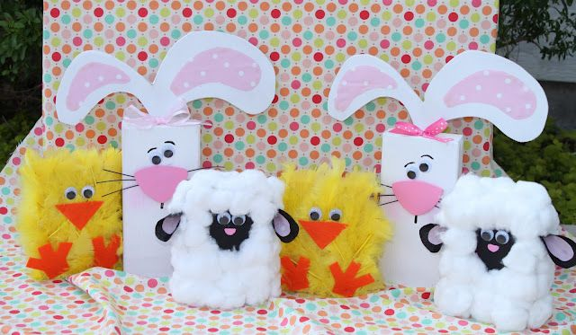 Spring Chick, Lamb & Bunny 2x4's - aren't these cute! http://gigglesgalorenmore.blogspot.com/2011/03/spring-chick-lamb-bunny-2x4s.html