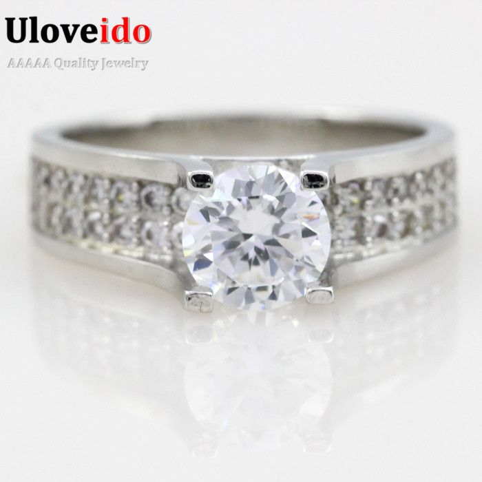 Find More Rings Information about Crystal Ring Simulated Diamond Engagement Rings for Women Wedding Band Hot Sale Wholesale Fashion Jewelry Gift Ulove Y006,High Quality diamond studded wedding ring,China diamond square ring Suppliers, Cheap diamond bur from ULOVE Fashion Jewelry on Aliexpress.com