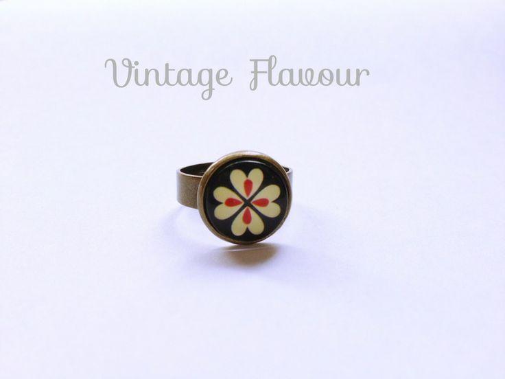 ♥ Ring Blume ♥ Kleeblatt ♥ Vintage von Vintage Flavour ♥  auf DaWanda.com