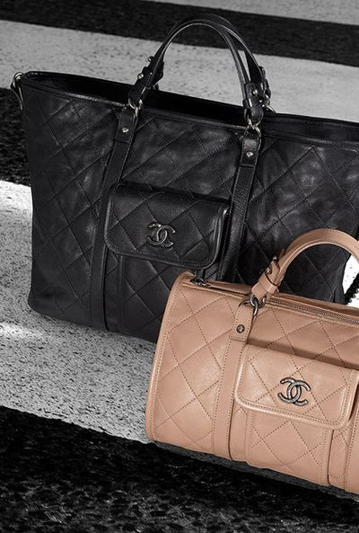 Chanel BOWLING HANDBAG LARGE CALFSKIN BOWLING BAG