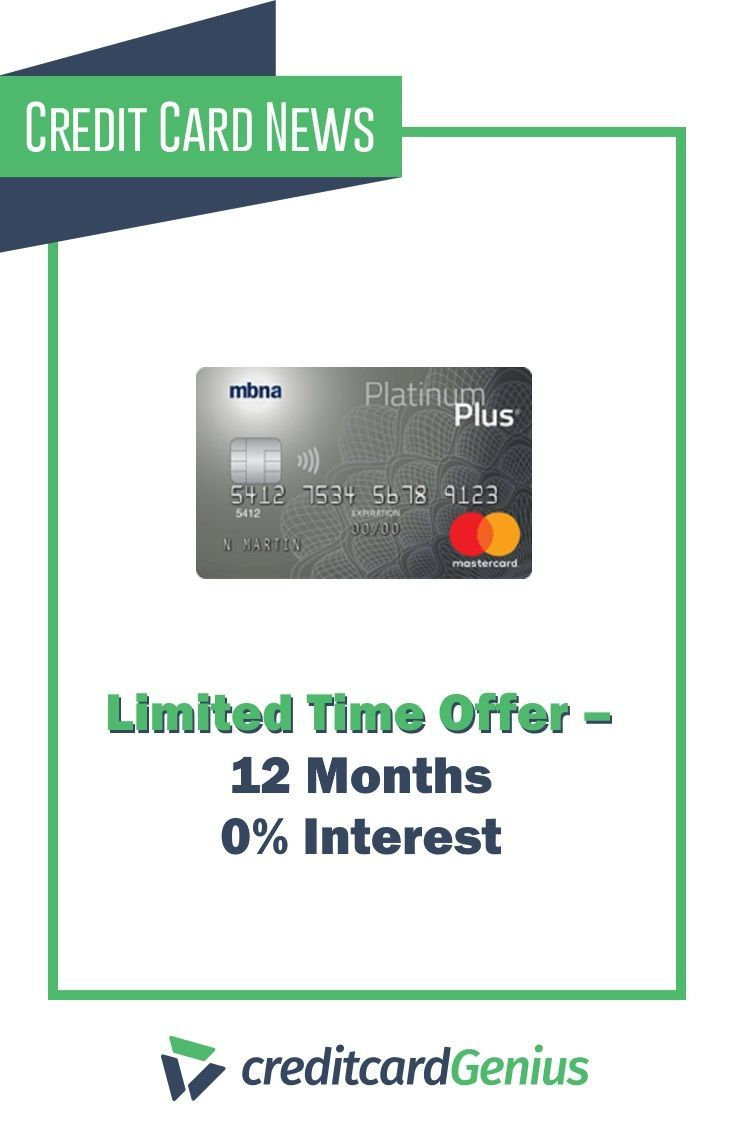 Mbna Platinum Plus Mastercard Limited Time Offer 12 Months 0