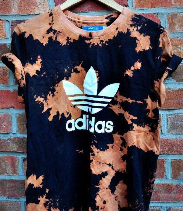 Bleach tie dye - love it on the addidas shirt too! | My ...