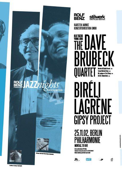 Brubeck/Lagrene Poster