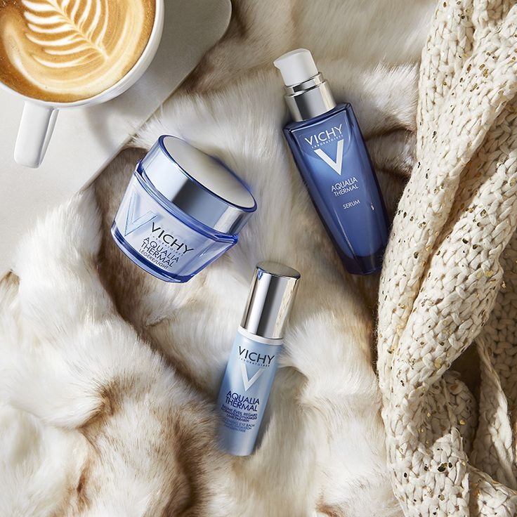 The perfect cozy checklist: blanket ✔️, yummy drink ✔️, pampering myself with #Vichy (✔️✔️✔️!).