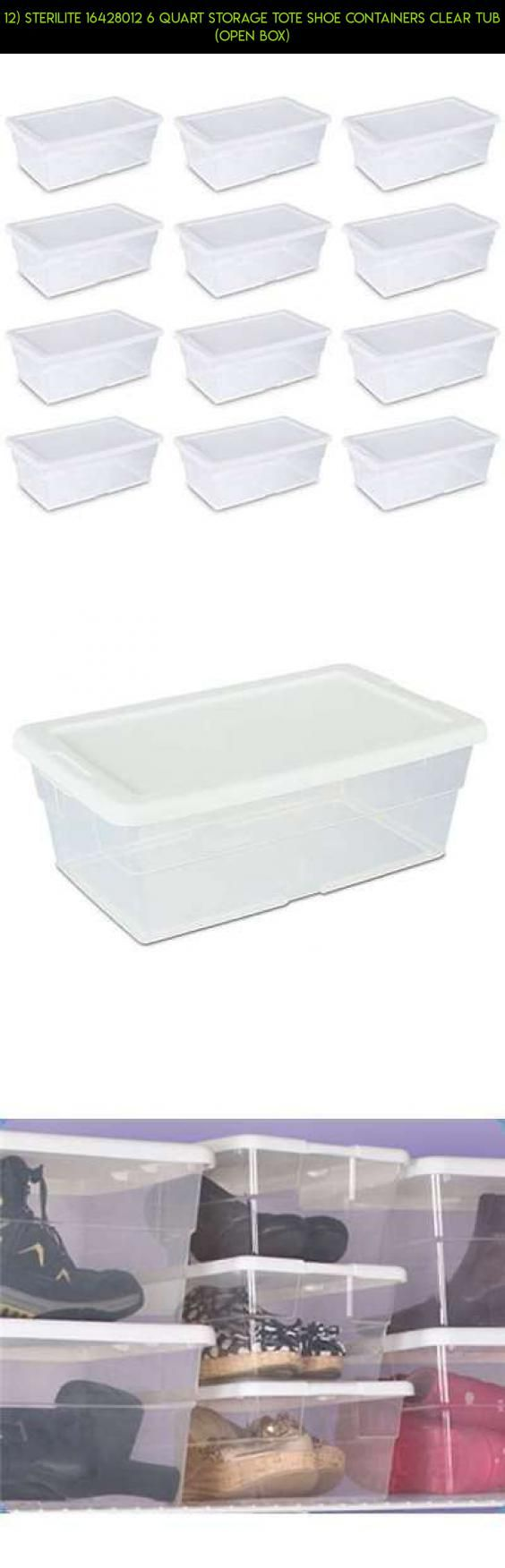 12) Sterilite 16428012 6 Quart Storage Tote Shoe Containers Clear Tub (Open Box) #plans #tech #parts #technology #camera #fpv #storage #gadgets #tubs #kit #drone #shopping #products #racing