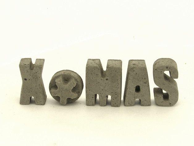 X*MAS literki z betonu. - Ale-Beton - Dekoracje